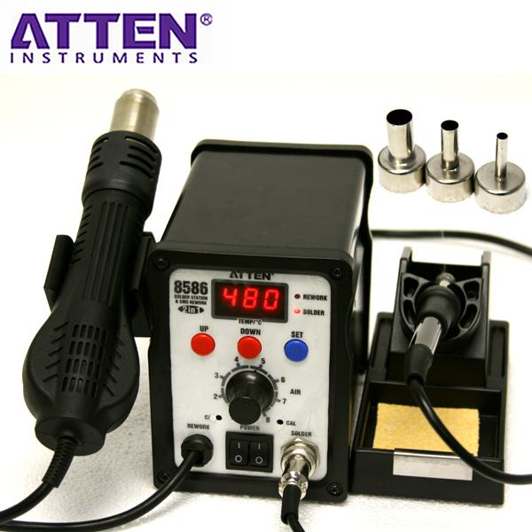 HOT AIR SOLDERING & REWORK STATION ATTEN AT8586